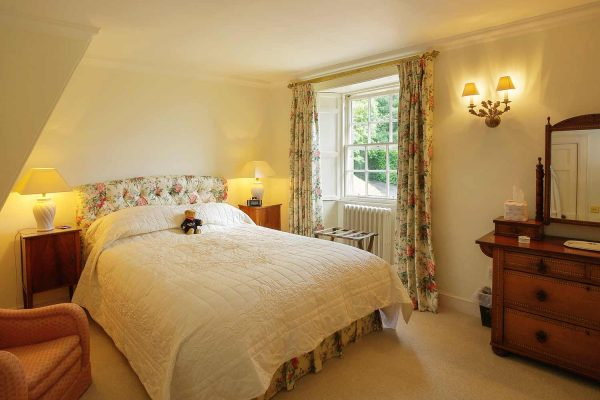 A colour photograph of a double room at Edradynate Luxury self catering accommodation in Scotland - Edradynate Country House and Sporting Estate House Perthshire