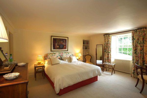 A colour photograph of a double room with ensuite at Edradynate - Luxury self catering accommodation in Scotland - Edradynate Country House and Sporting Estate House Perthshire