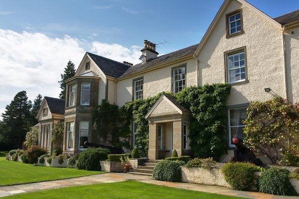 Edradynate Country House External View - Luxury Scottish Country House for Rent & Sporting Estate in Perthshire, Scotland