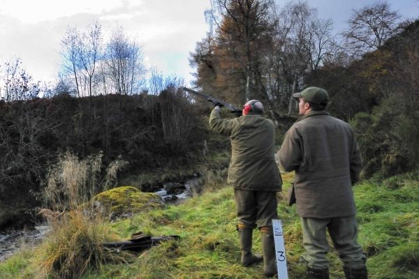 A colour Photograph of a shoot at EdradynatShooting Holidays in Scotland - Edradynate Estate, Luxury Country House and Sporting Estate , Perthshire