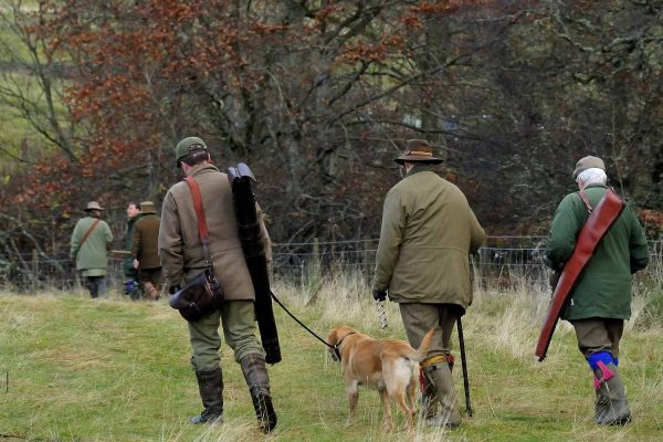 A colour photograph of a clay pigeon shoot at EdradynateShooting Holidays in Scotland - Edradynate Estate, Luxury Country House and Sporting Estate , Perthshire