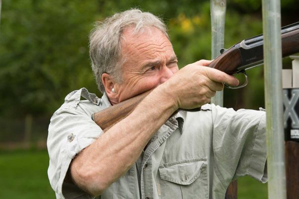 A colour photo of a guest enjoying clay shooting at the Edradynate clay pigeon shoot day May 2017 - Edradynate Estate, Perthshire - Luxury Country House and Sporting Estate for Rent in Scotland