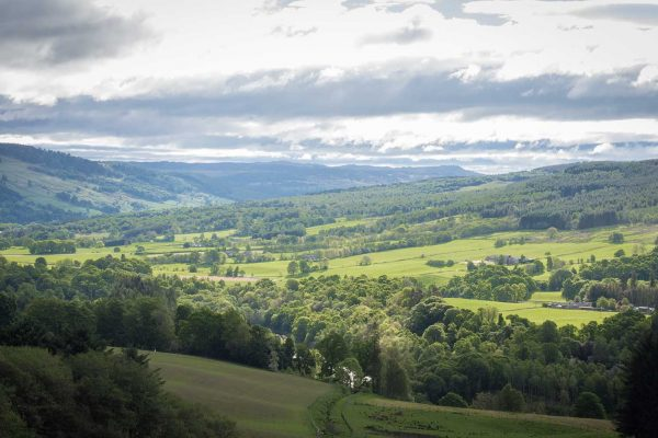 An image of the beautiful scenery and rolling hills at Edradynate Estate, Perthshire - Luxury Country House and Sporting Estate for Rent in Scotland