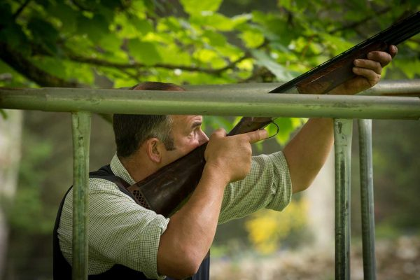 An image of Ian Smith Headkeeper, clay pigeon shooting at the Edradynate May 2017 shoot day - Edradynate Estate, Perthshire - Luxury Country House and Sporting Estate for Rent in Scotland
