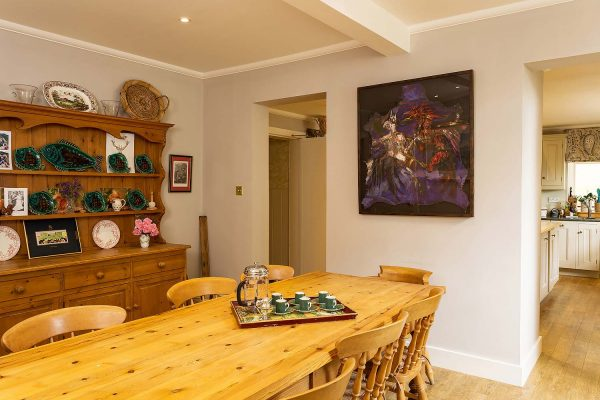An image of the breakfast room at Edradynate Estate - Luxury self catering accommodation in Scotland -Perthshire