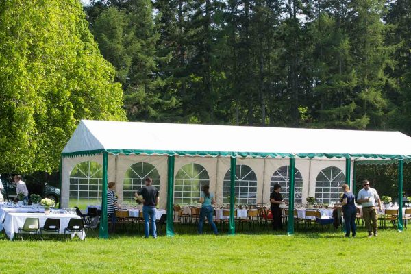 A colour image of the marquee at the Edradynate clay pigeon shoot day in May 2017 -Edradynate Estate, Perthshire - Luxury Country House and Sporting Estate for Rent in Scotland