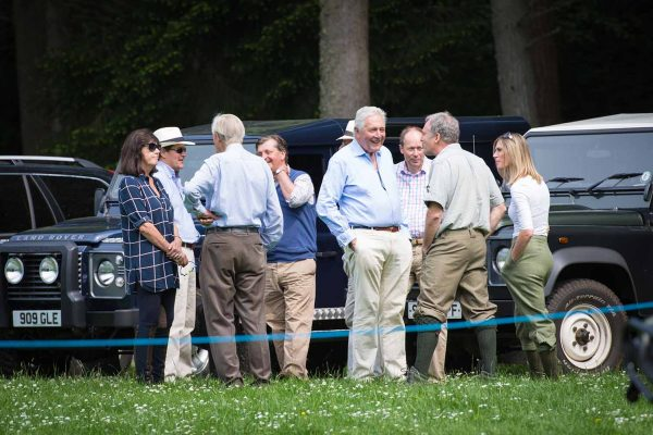 An image of Michael Campbell socialising with guests at the Edradynate clay pigeon shoot day May 2017 - Edradynate Estate, Perthshire - Luxury Country House and Sporting Estate for Rent in Scotland