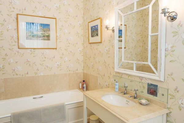 An image of the ensuite bathroom to the Master bedroom at Edradynate Country House and Sporting Estate Scotland.
