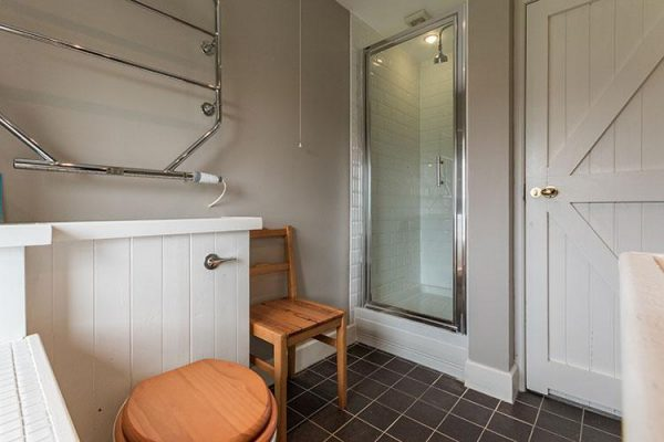 A colour image of a bathroom at Aodin - accommodation for a a self catering holiday Scotland - Edradynate Country House and Sporting Estate Perthshire
