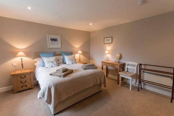 A colour image of a double bedroom at Aodin - accommodation for a a self catering holiday Scotland - Edradynate Country House and Sporting Estate Perthshire