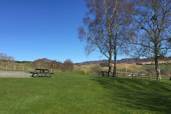 An image of a view from Aodin accommodation for a a self catering holiday Scotland - Edradynate Country House and Sporting Estate Perthshire
