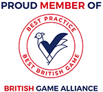 A colour image of British Game Alliance badge - Shooting at Edradynate Estate